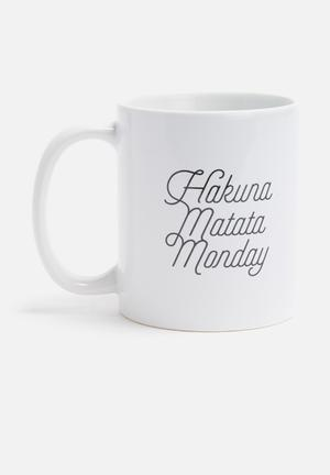 Sixth Floor Hakuna Matata Monday Mug Ceramic