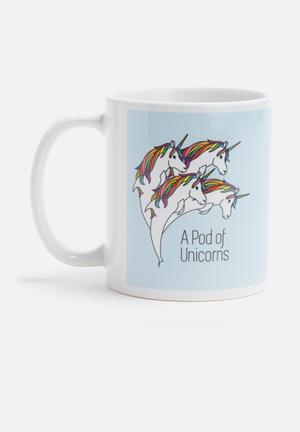 Sixth Floor Pod Of Unicorns Mug Ceramic