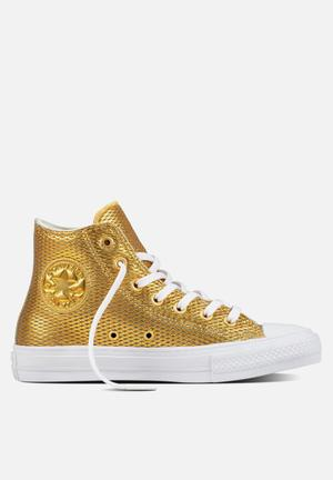 Converse Chuck Taylor All Star II Hi Perf Leather Sneakers Gold/White/White