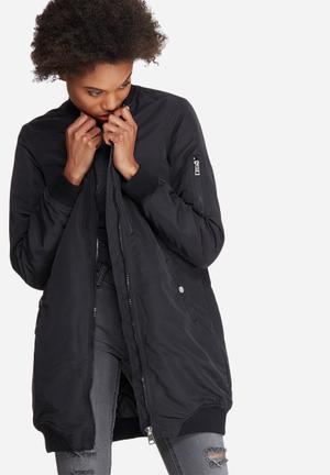 Vero Moda Dicte 3/4 Bomber Jacket Black