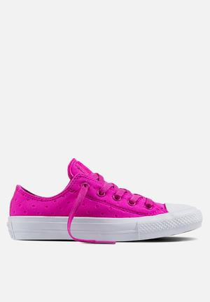 Converse Chuck Taylor All Star II Shield Lycra OX Sneakers Magenta Glow/White