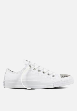 Converse Chuck Taylor All Star Metallic Toecap L OX Sneakers White/Silver