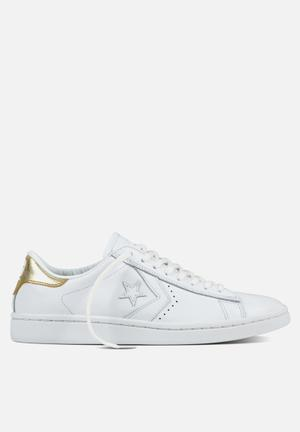Converse Cons SLS PL LP Leather L OX Sneakers White/Light Gold
