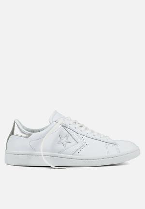 Converse Cons SLS PL LP Leather L OX Sneakers White/Silver