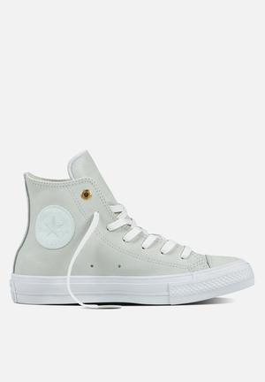 Converse Chuck Taylor All Star  II HI Craft Leather Sneakers Blue Flower/White
