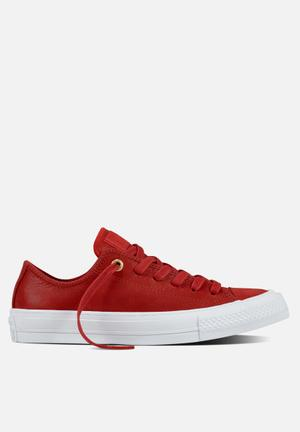Converse Chuck Taylor All Star II Craft Leather Sneakers Casino/White