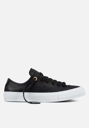 Converse Chuck Taylor All Star II Craft Leather Sneakers Black/Black/White