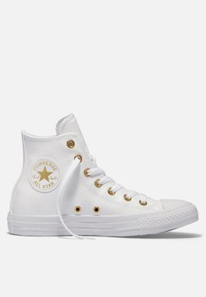 Converse Chuck Taylor All Star HI Craft SL Sneakers White/Gold