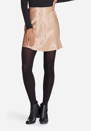 Satin mini skirt