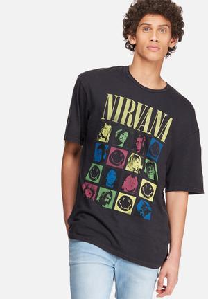 Jack & Jones Originals Nirvana Box Fit Tee T-Shirts & Vests Black