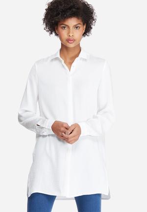 Silky longer length shirt