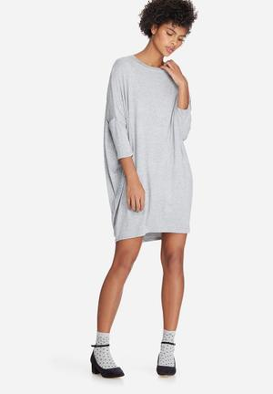 Dailyfriday Dolman Sleeve Dress Casual Grey