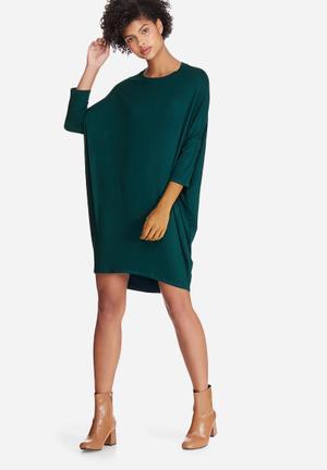 Dailyfriday Dolman Sleeve Dress Casual Green