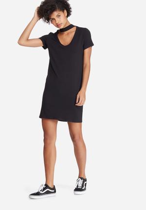 Dailyfriday Choker Detail Dress Casual Black