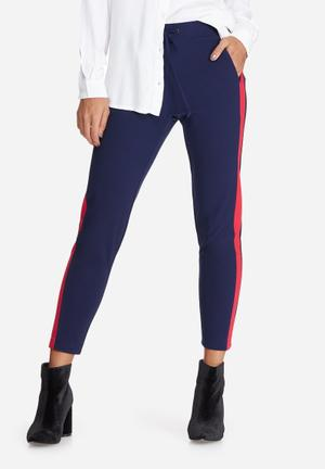 Dailyfriday Formal Joggers Trousers Navy & Red