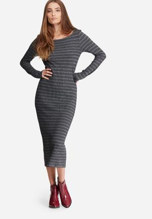 ONLY Brooky Dress Casual Grey & Black