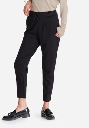 ONLY Poptrash Easy Belted Pants Trousers Black