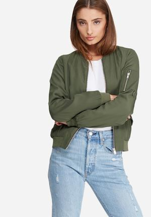 ONLY Quick Bomber Jacket Khaki