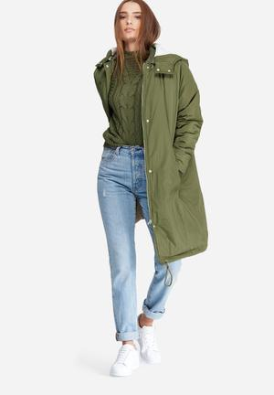 Noisy May Savoy Long Jacket Green