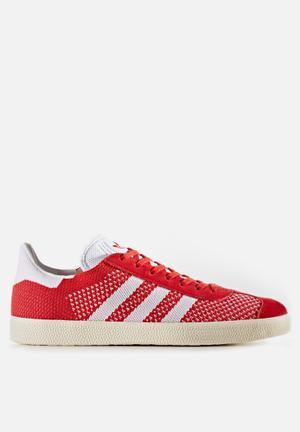 Adidas Originals Gazelle Primeknit Sneakers Scarlet/FTWR White/Chalk White
