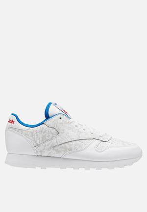 Reebok Classic Leather Archive Revival Sneakers White/Skull Grey/Awesome Blue/Primal Red