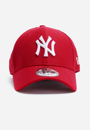 New Era 39Thirty Diamond Era NY Yankees Headwear Red