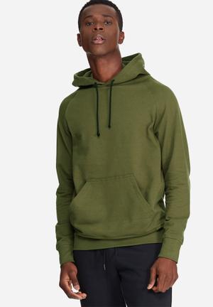 Basicthread Basic Pullover Hoodie Sweat Hoodies & Sweatshirts Olive