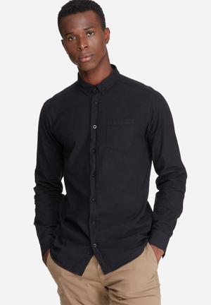 Basicthread Oxford Slim Fit Shirt Black