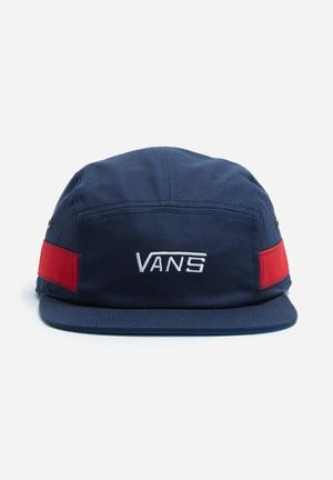 Vans Academy Camper Headwear Navy, Red & White