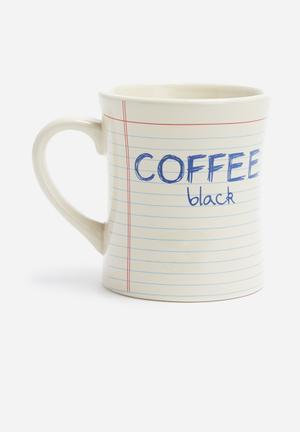Temerity Jones Notebook Coffee Mug Ceramic