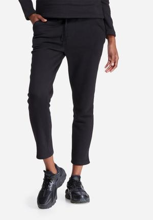 Dailyfriday Cropped Jogger Bottoms Black
