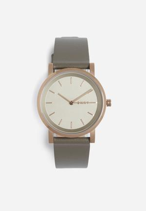 DKNY Soho Watches Rose Gold With Grey Band