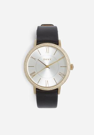 DKNY Willoughby Watches Gold With Black Band