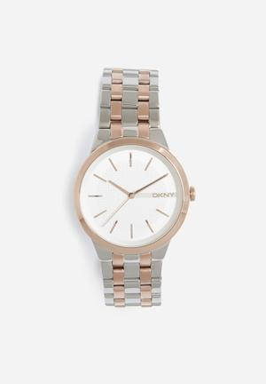 DKNY Park Slope Watches Silver & Rose Gold