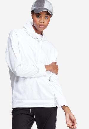 Dailyfriday Funnel Neck Sweat Hoodies & Jackets White