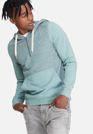 Jack & Jones Originals Japan Hood Sweat Hoodies & Sweatshirts Blue