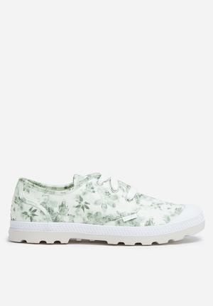 Palladium Pama Oxford Sneakers White & Grey