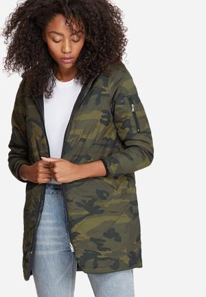 Vero Moda Raven Reversible Jacket Black, Green & Brown