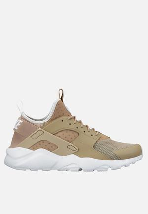 Nike Air Huarcahe Run Ultra Sneakers Khaki / Pale Grey / White