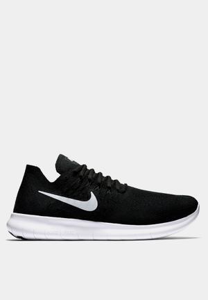 Nike Free Run Flyknit 2 Sneakers Black / White - Anthracite - Dark Grey
