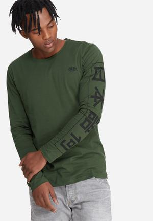 Only & Sons Andrew Long Sleeve Tee T-Shirts & Vests Green & Black