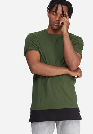 Only & Sons Andy Longline Tee T-Shirts & Vests Green & Black