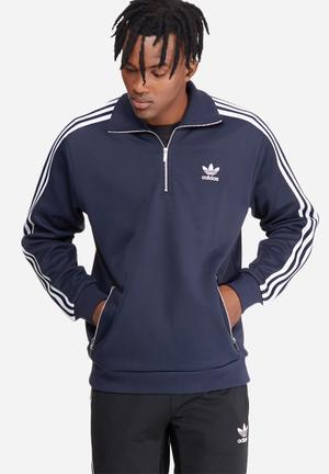 Adidas Originals Siebziger Track Top Hoodies & Sweatshirts Navy & White