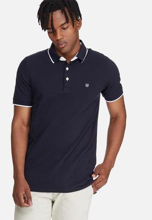 Jack & Jones Premium Paulos Polo Shirt T-Shirts & Vests Navy & White