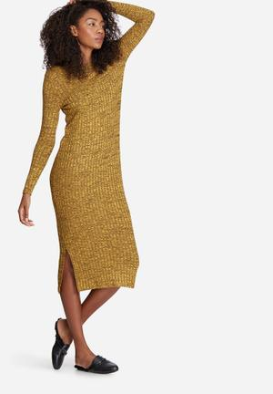 Vero Moda Nille Dress Casual Yellow & Black