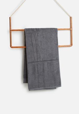 Sixth Floor Grey Bath Sheet Towels 100% Cotton, 500gsm