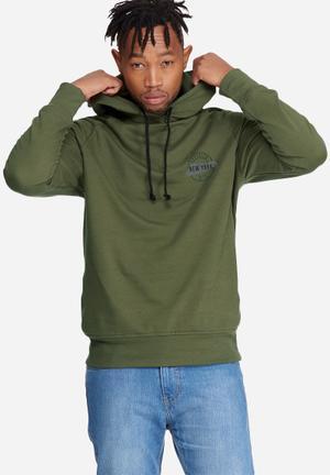 Basicthread Graphic Pullover Hoodie Sweat Hoodies & Sweatshirts Olive & Black