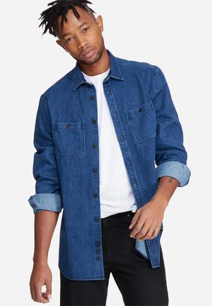Basicthread Denim Overshirt  Blue