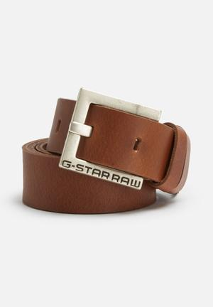 G-Star RAW Duko Leather Belt  Cognac