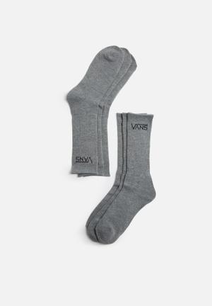 Vans Classic Crew 3 Pack Socks Grey Melange